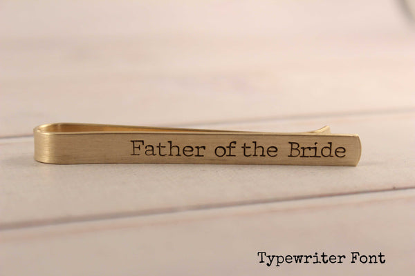 """Father of the Bride"" or ""Father of the Groom"" Tie Bar / Tie Clip - Tie Clips - Completely Hammered - Completely Wired"