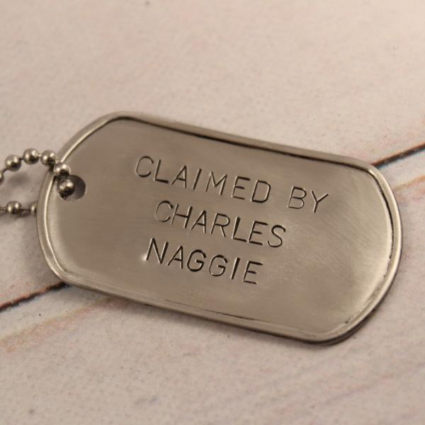Personalized, Dog Tag Necklace / keychain - Necklaces - Completely Hammered - Completely Wired