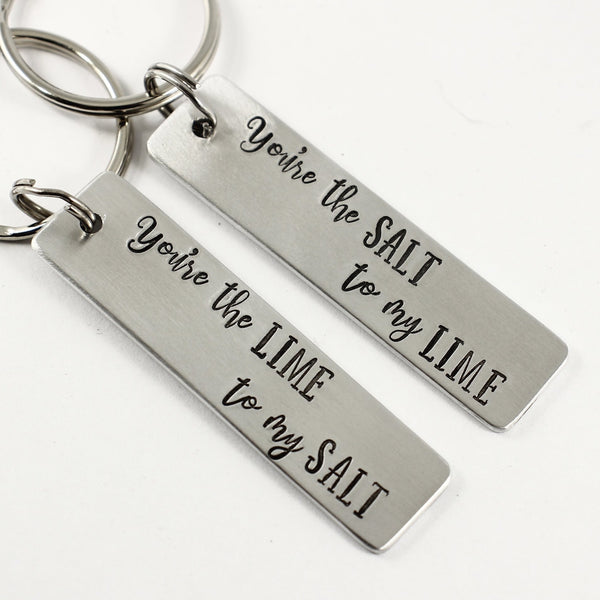 You're the Salt to my Lime / You're the Lime to my Salt Keychains (sold as singles or set) - Keychains - Completely Hammered - Completely Wired