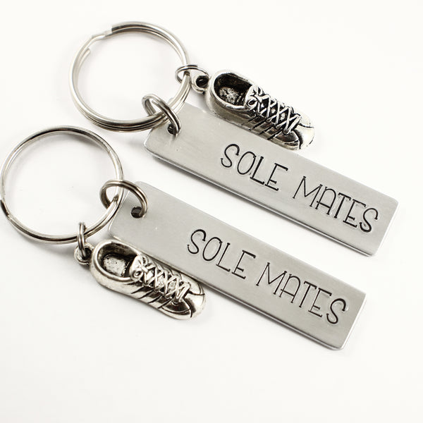 """Sole Mates"" - Running Buddy Keychain Set #HE - Completely Hammered"
