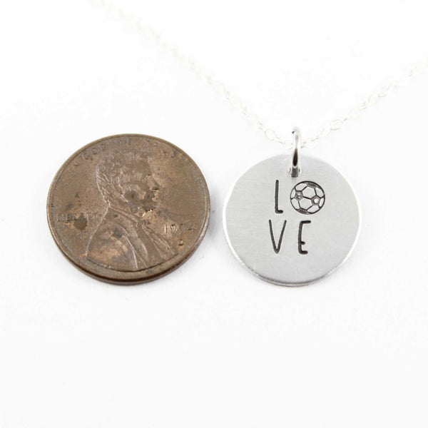 Soccer Love Charm - Sterling Silver - DISCOUNTED SAMPLE