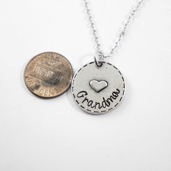 """Grandma"" Necklace - Ready to ship - Necklaces - Completely Hammered - Completely Wired"