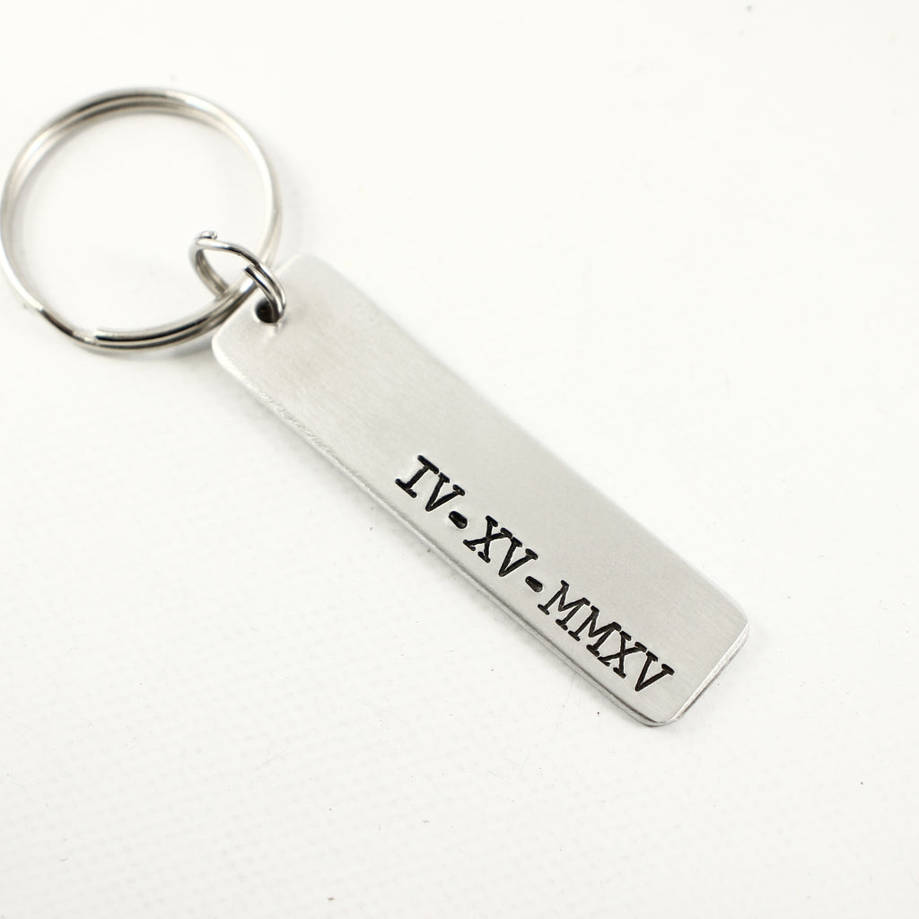 Roman Numeral Keychain - Keychains - Completely Hammered - Completely Wired