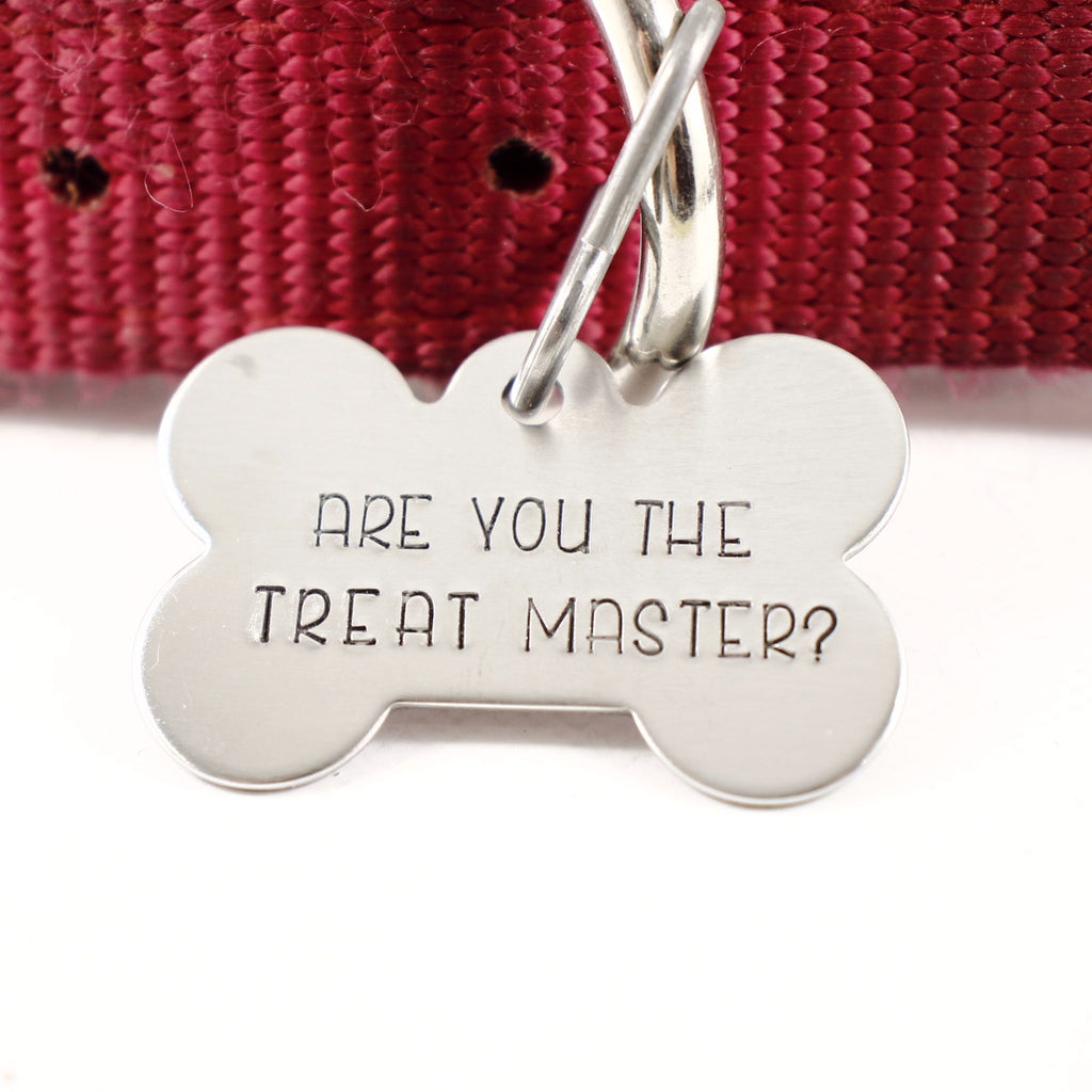 "Pet ID Tag -  ""Are you the treatmaster?"" - PET ID TAGS - Completely Hammered - Completely Wired"