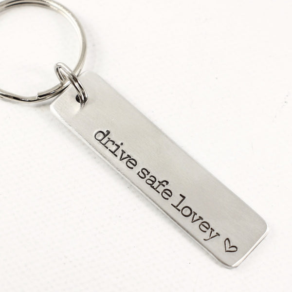 Custom, Hand Stamped Keychain - Keychains - Completely Hammered - Completely Wired