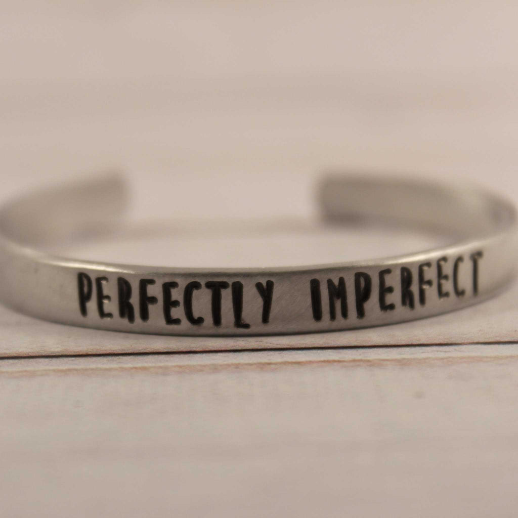 """PERFECTLY IMPERFECT"" bracelet - Your choice of pure aluminum, copper, brass or sterling silver - Cuff Bracelets - Completely Hammered - Completely Wired"