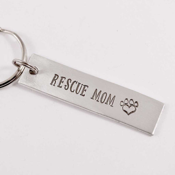 """RESCUE MOM"" keychain - Keychains - Completely Hammered - Completely Wired"