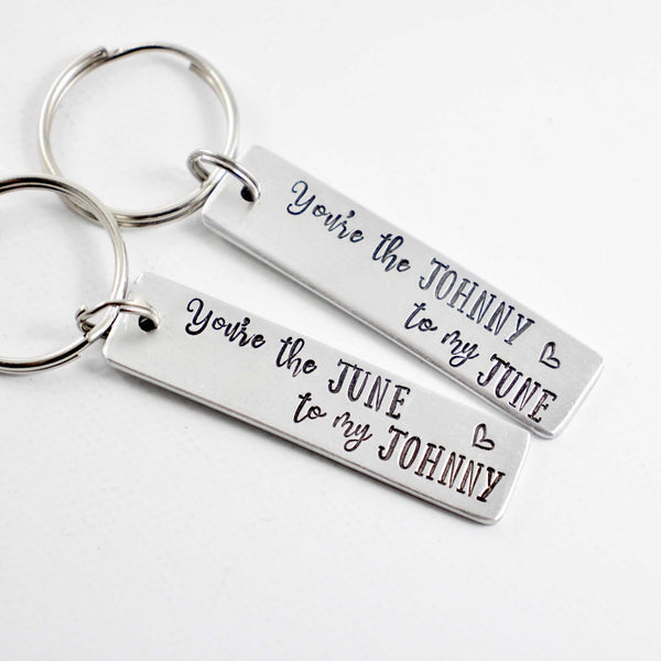 You're the Johnny to My June You're the June to my Johnny Keychains - Keychains - Completely Hammered - Completely Wired