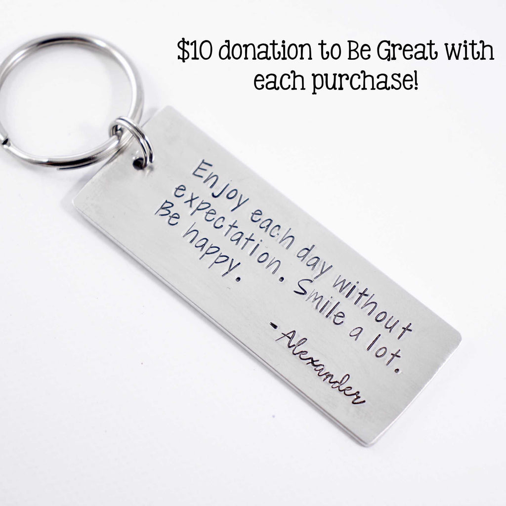 Alexander's Keychain - donation made - Be Great Foundation - Completely Hammered