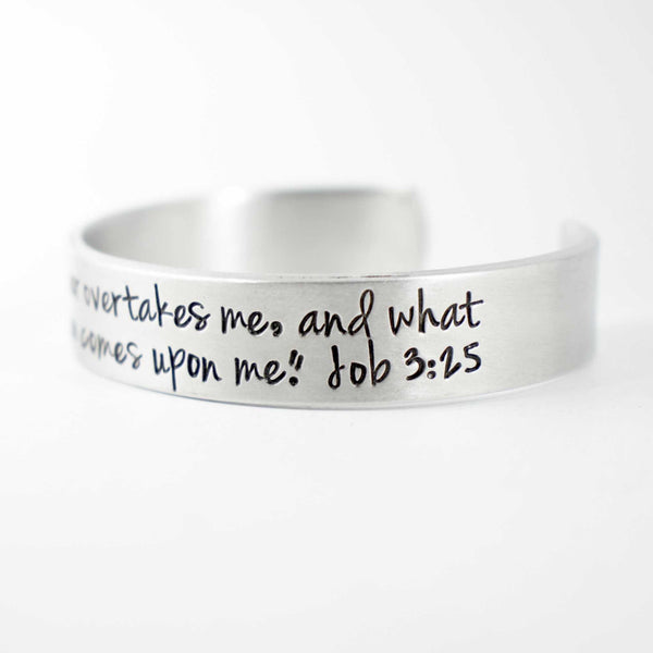 Job 3:25 Cuff Bracelet - Discounted & Ready to ship sample - Cuff Bracelets - Completely Hammered - Completely Wired