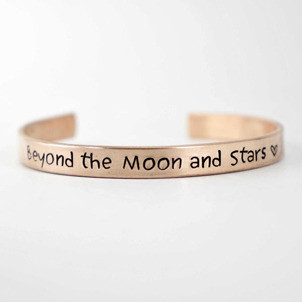 """Beyond the moon and stars"" - Cuff Bracelet - Ready to ship & discounted. - Cuff Bracelets - Completely Hammered - Completely Wired"