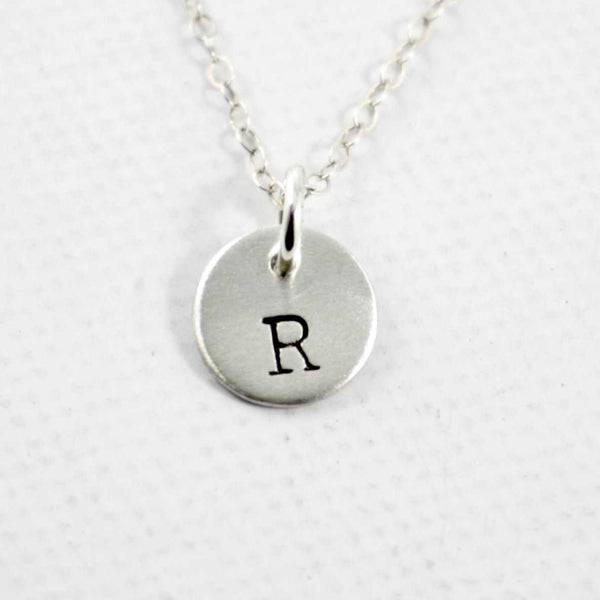"ADD ON - Sterling Silver 3/8"" Charm with Initial or Rune ONLY - Completely Hammered"