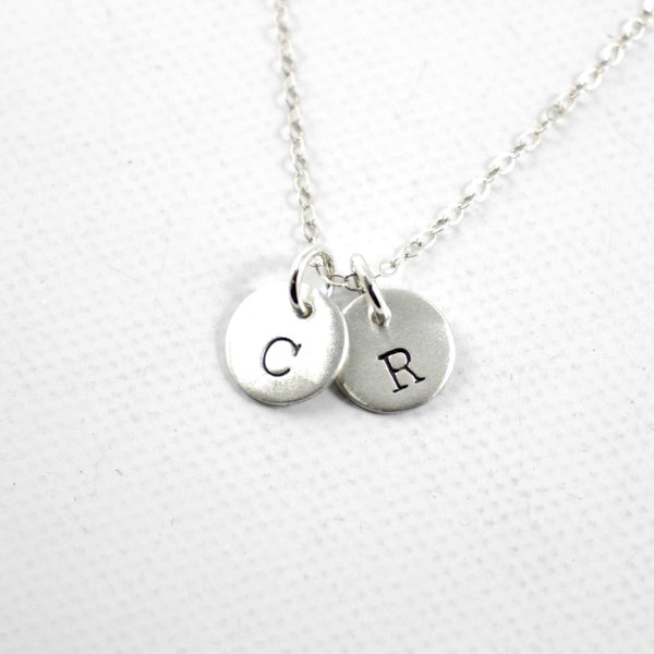 Petite Sterling Silver Initial Charms - your choice of up to 4 charms - Completely Hammered