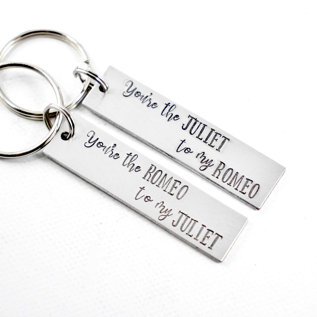 You're the Romeo to my Juliet / You're the Juliet to my Romeo Keychains - Keychains - Completely Hammered - Completely Wired