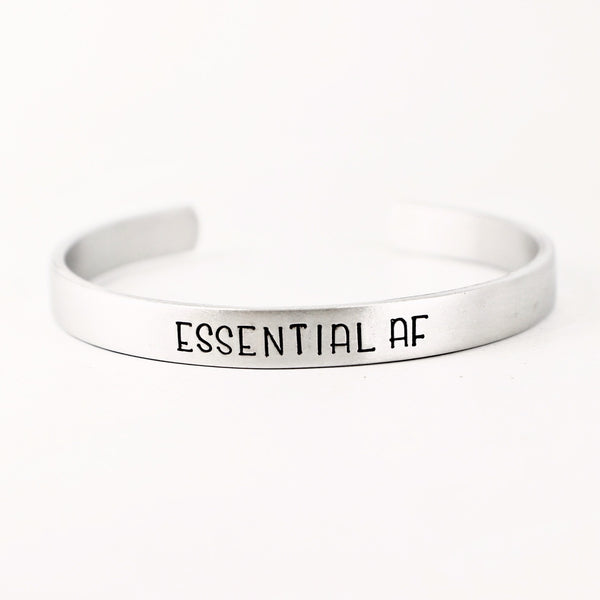 """Essential AF"" Bracelet - Your choice of metals - Cuff Bracelets - Completely Hammered - Completely Wired"
