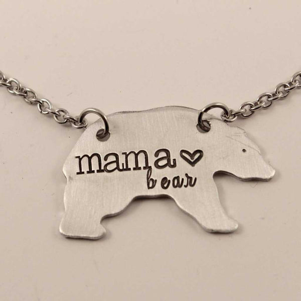 Mama Bear Necklace - Necklaces - Completely Hammered - Completely Wired