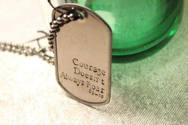 Personalized, Dog Tag Necklace / keychain - your choice of text! - Necklaces - Completely Hammered - Completely Wired