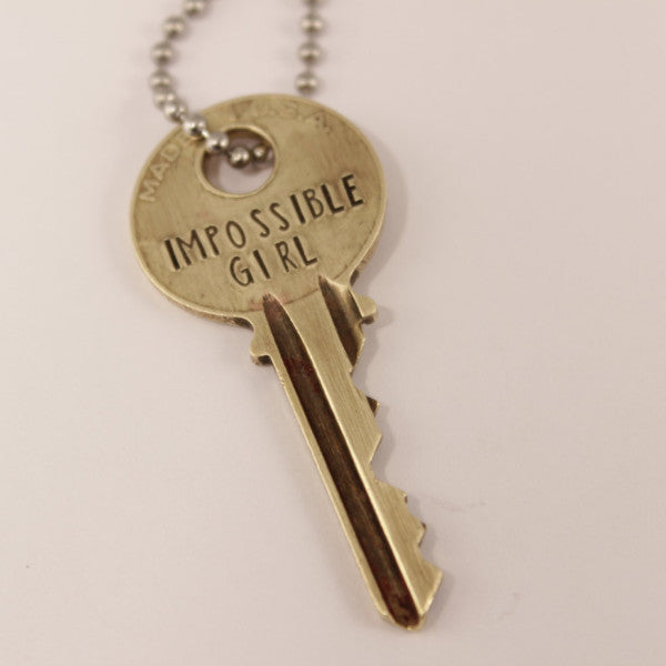 Impossible Girl KEY - Doctor Who Inspired - Whovian necklace - Necklace - Completely Hammered - Completely Wired
