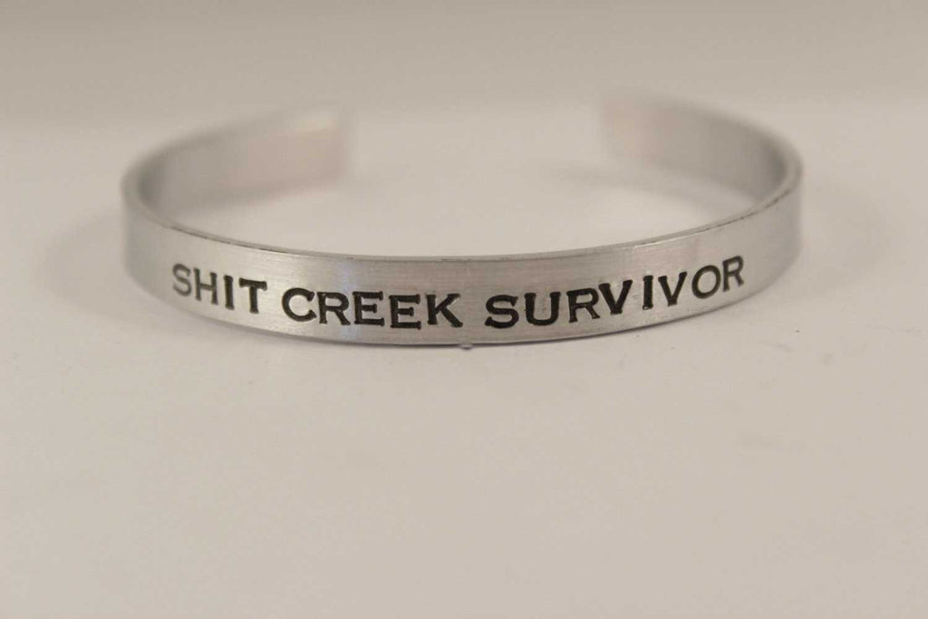 Shit Creek Survivor - Cuff Bracelet - Cuff Bracelets - Completely Hammered - Completely Wired