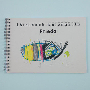 childrens personalised notebook for drawing and stories
