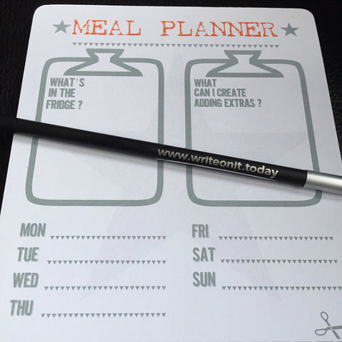 meal & recipe planner notepad
