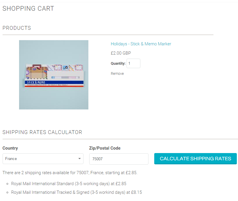International Shipping Rates Calculator
