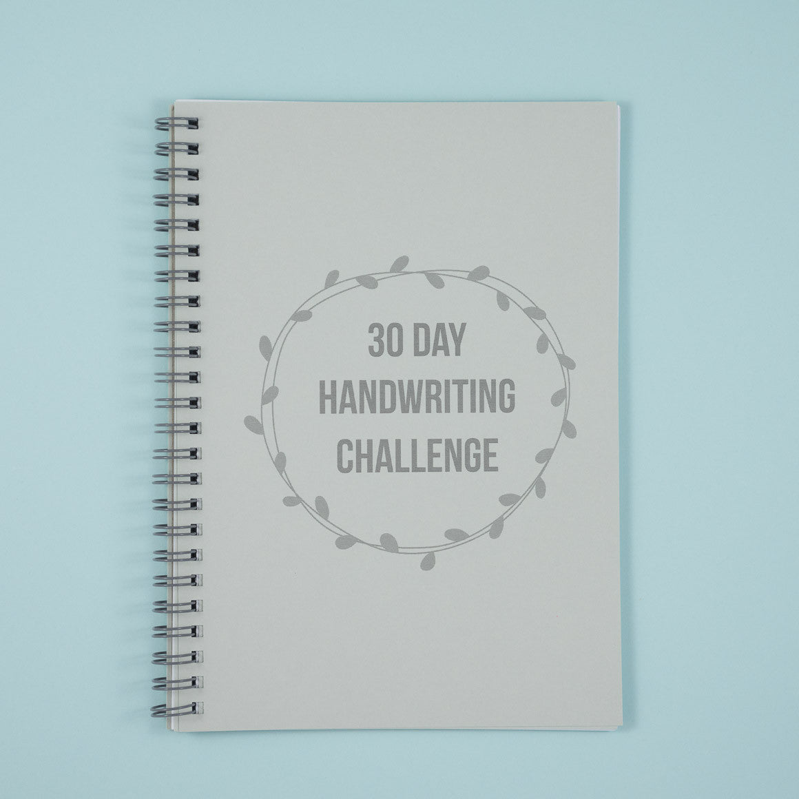 30 day handwriting challenge notebook