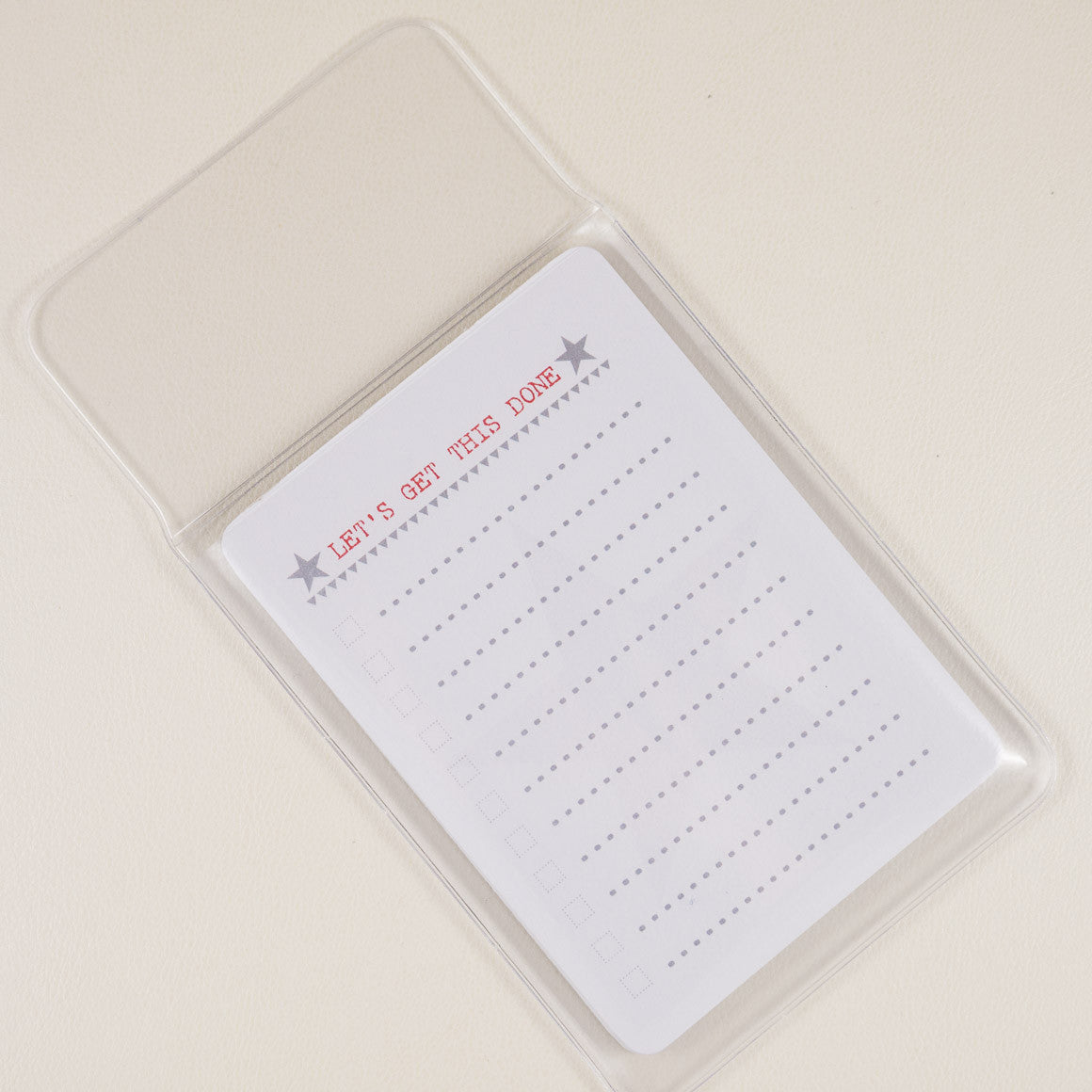 Plastic Document Wallet A6 Paper or Pad