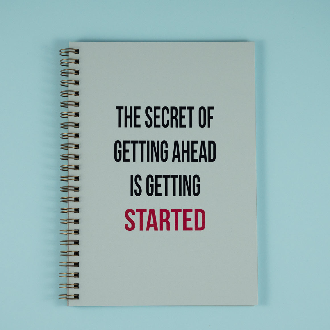 Secret of getting ahead notebook