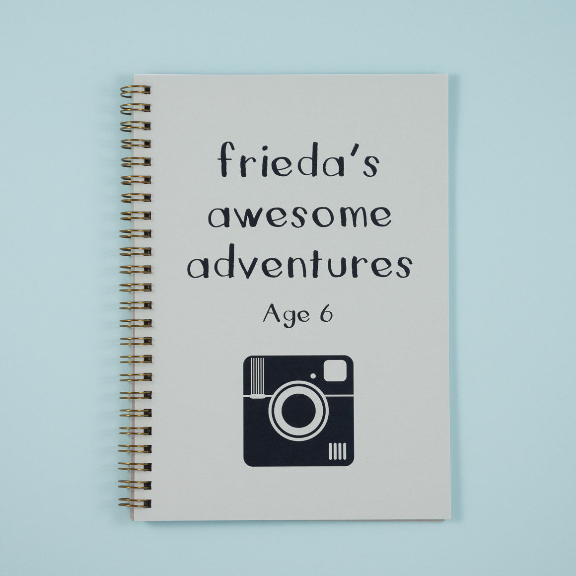 awesome adventure personalised notebook
