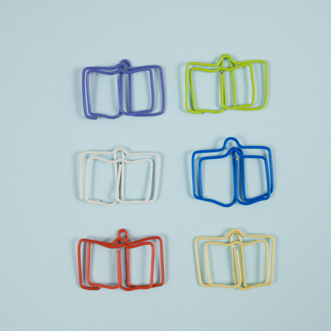 Book shaped paper clips
