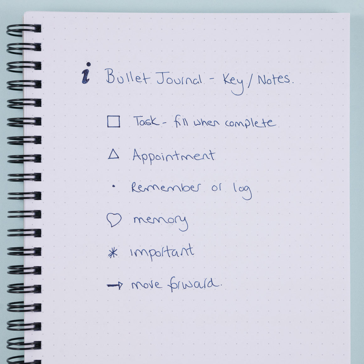 bullet journal key example