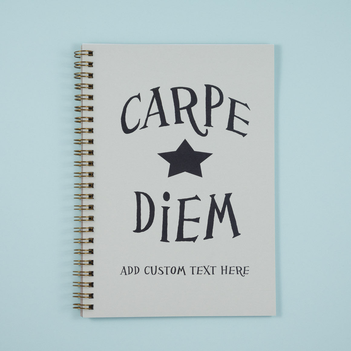 carpe diem personalised A5 notebook