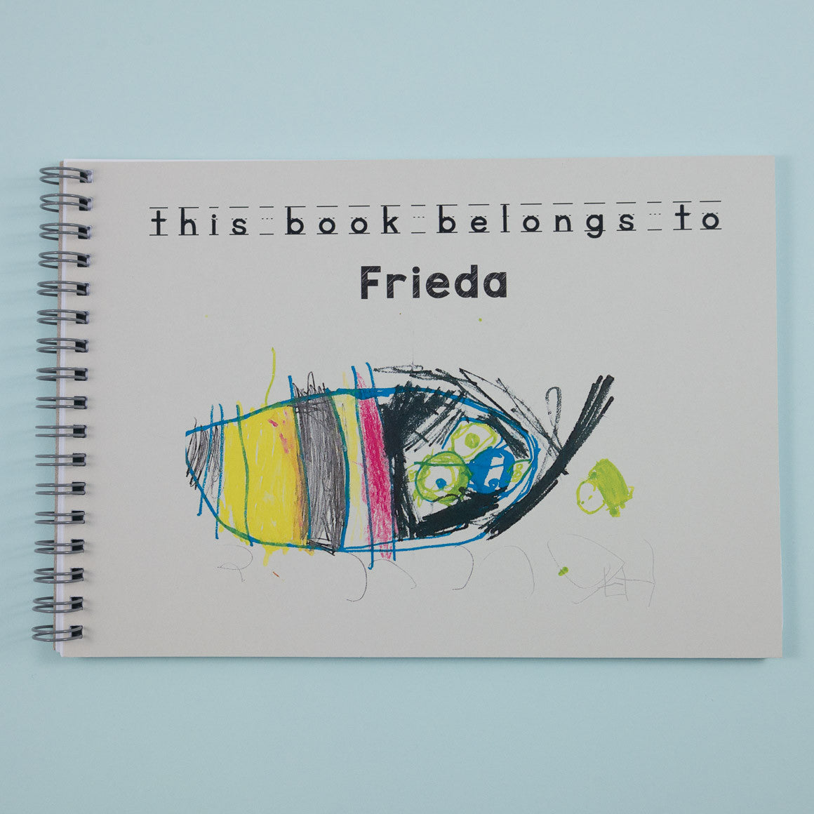 childrens personalised notebook for drawing