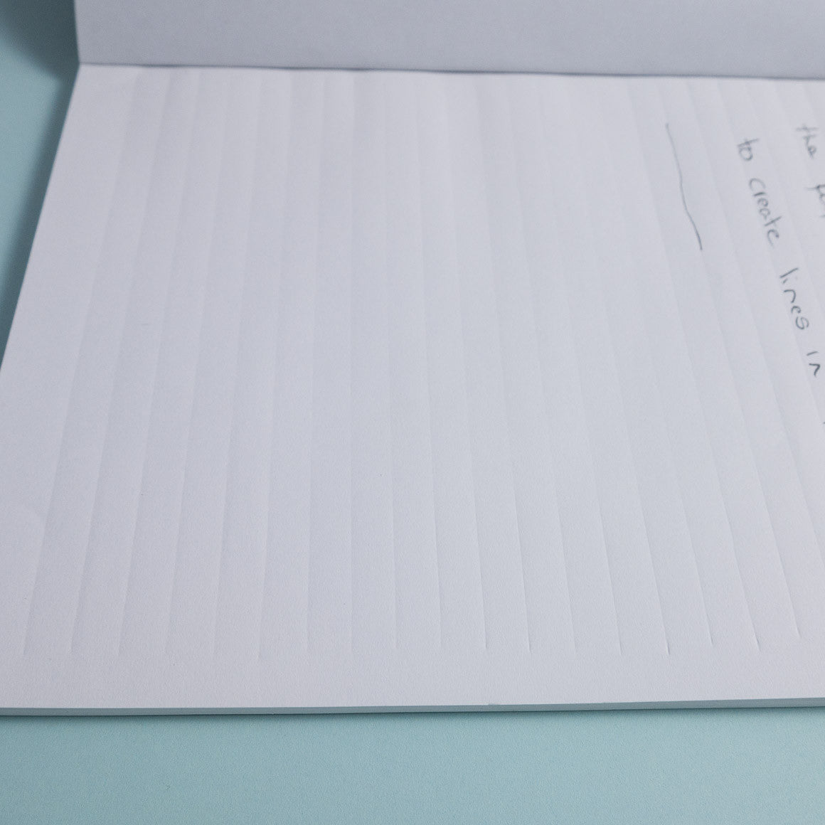 unusual crimped paper lined notebook