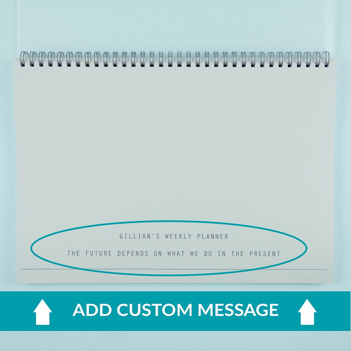 Custom Text Weekly Planner