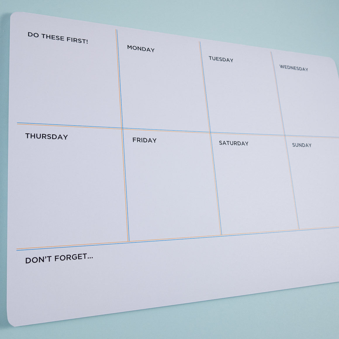 Weekly Planner Tear off  Deskpad