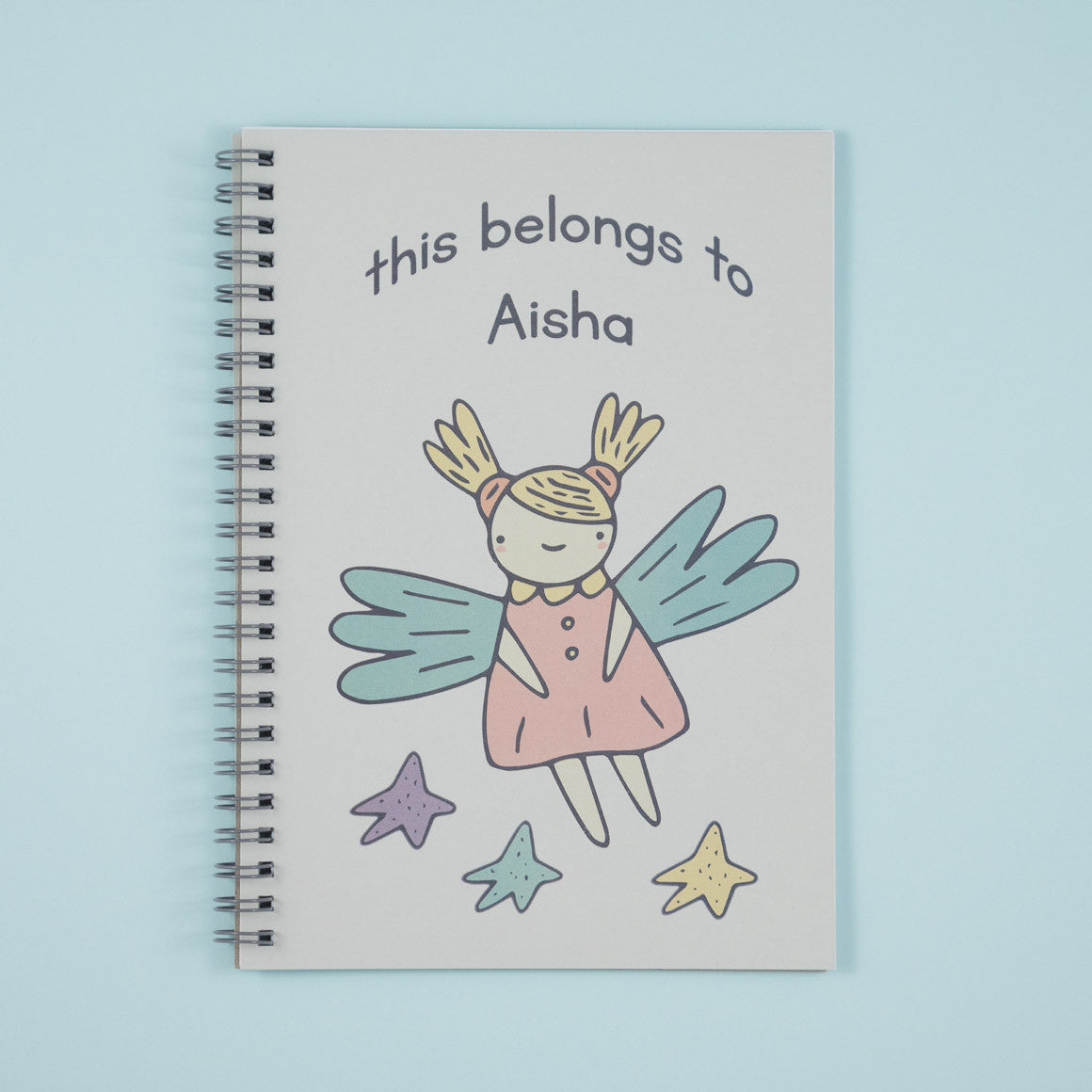 fairy personalised notebook for children