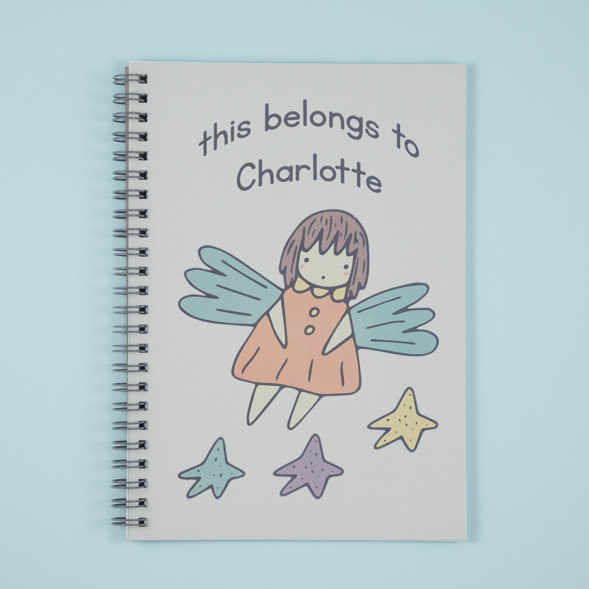 personalised fairy notebook for children