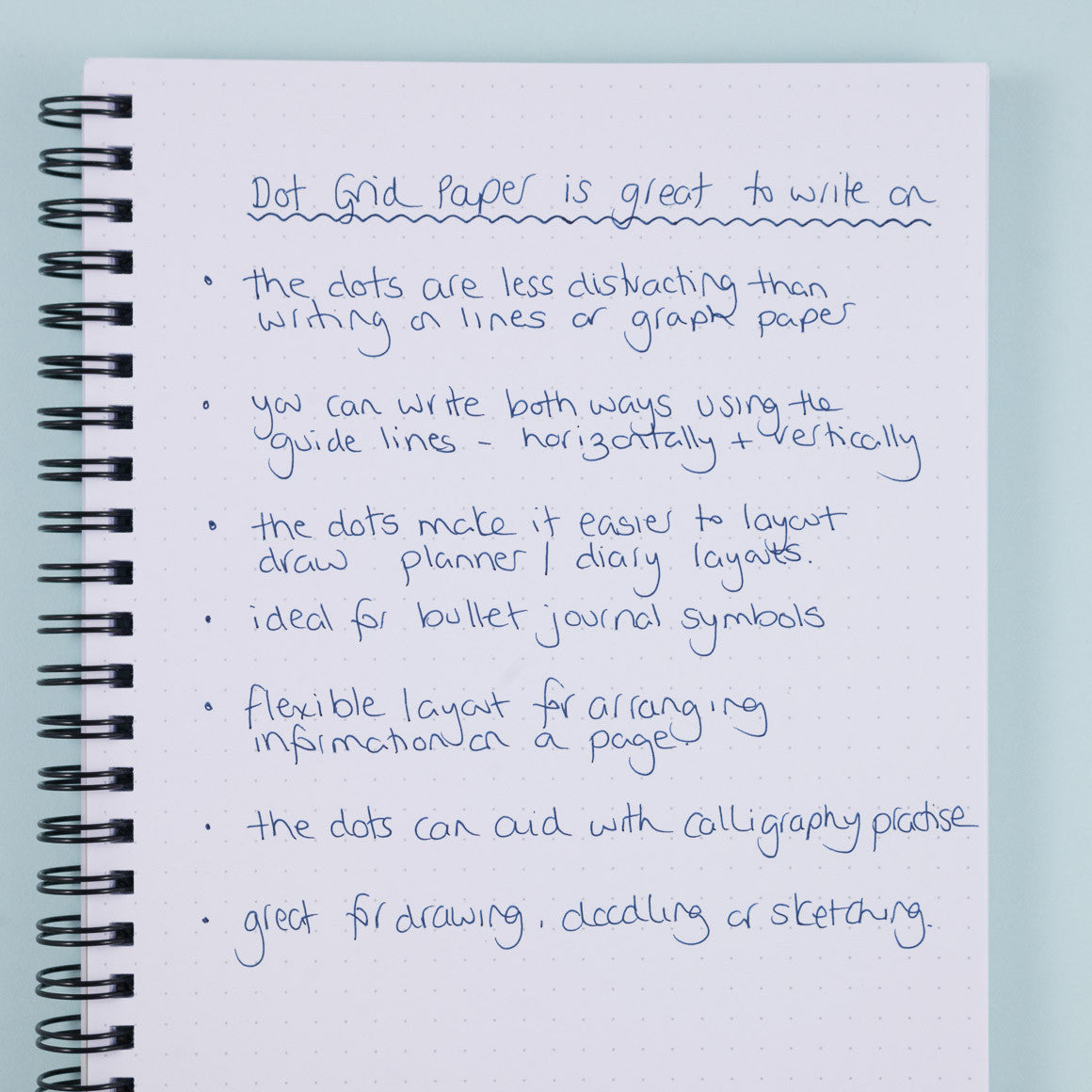 how to use dot grid paper notebook