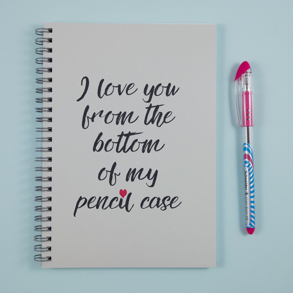 Love you from the bottom of my pencil case