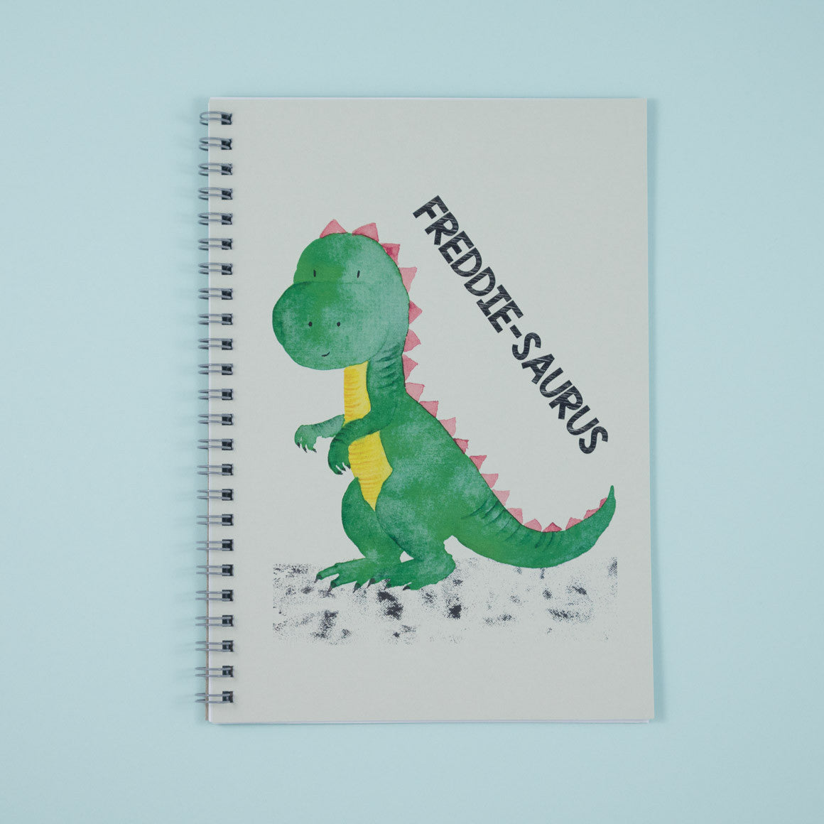 personalised dinosaur notebook for children