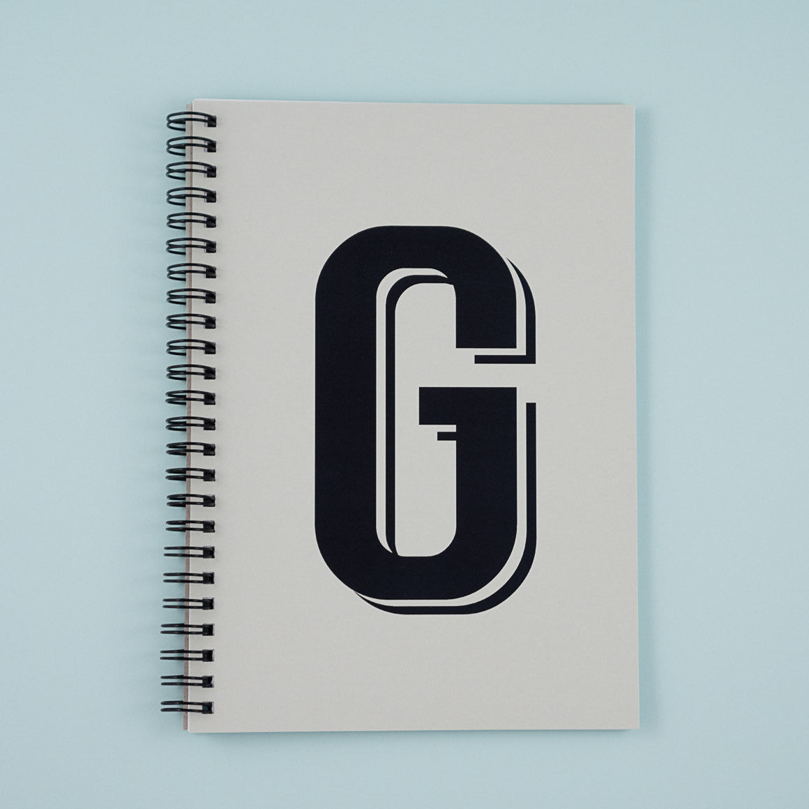 alphabet letter personalised notebook