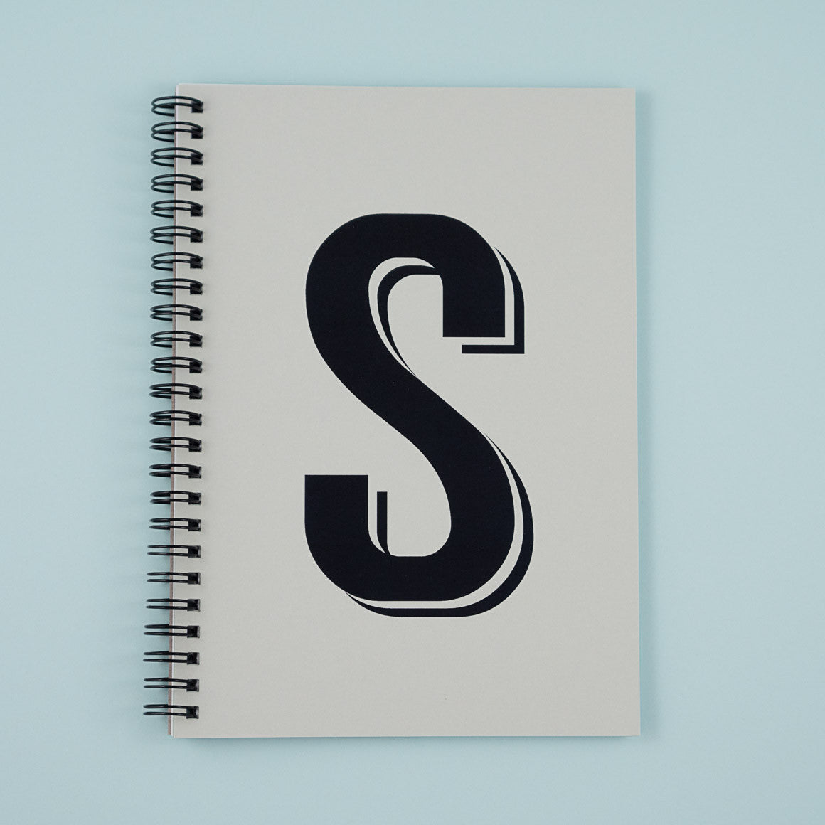 bold letter custom notebook