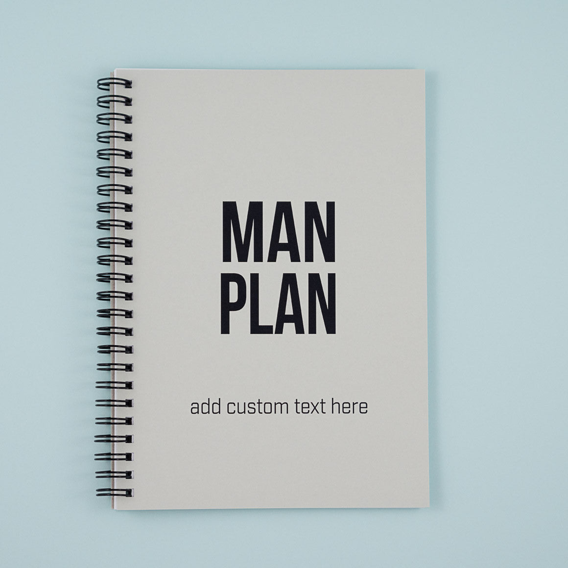 man plan personalised notebook