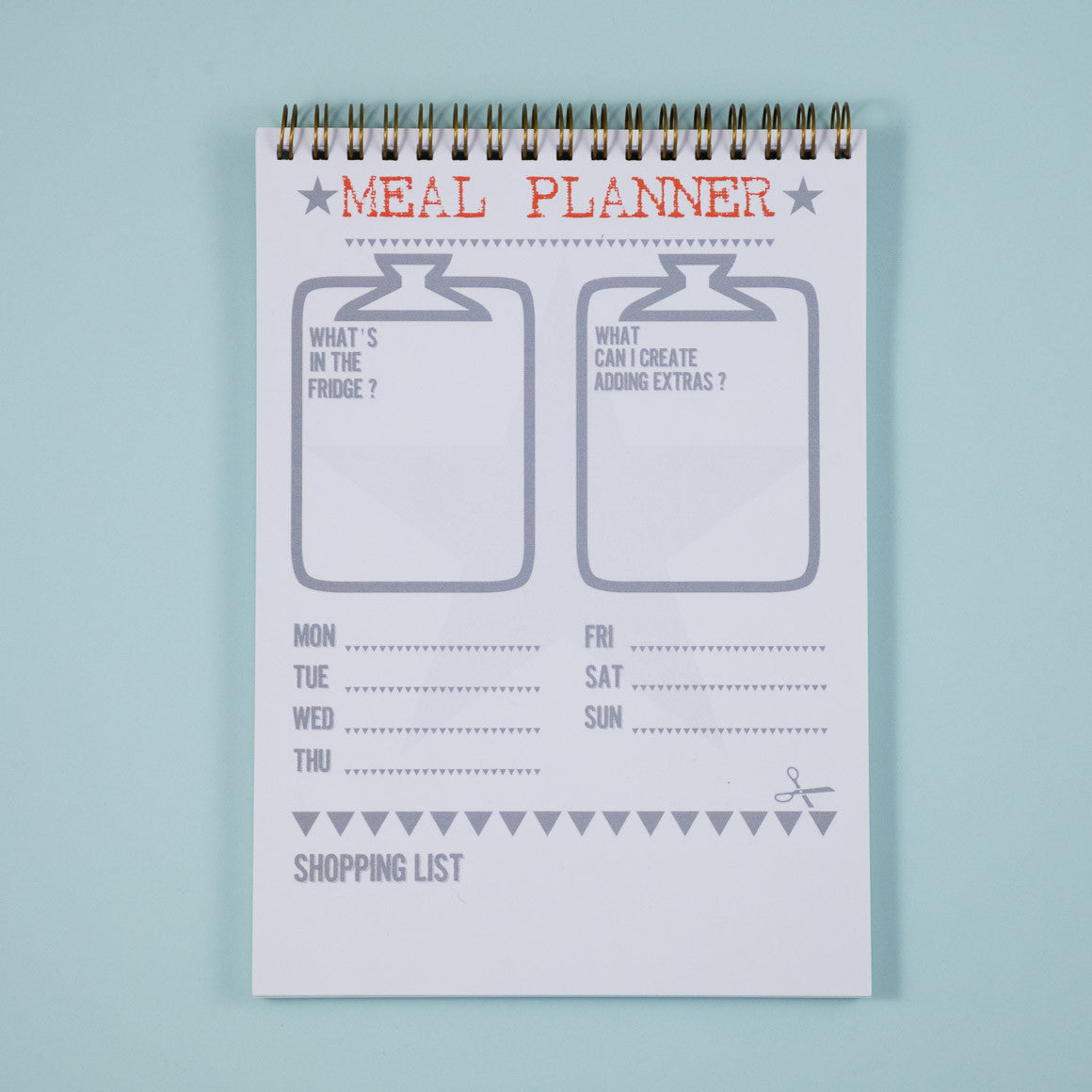 meal recipe planner notebook A5