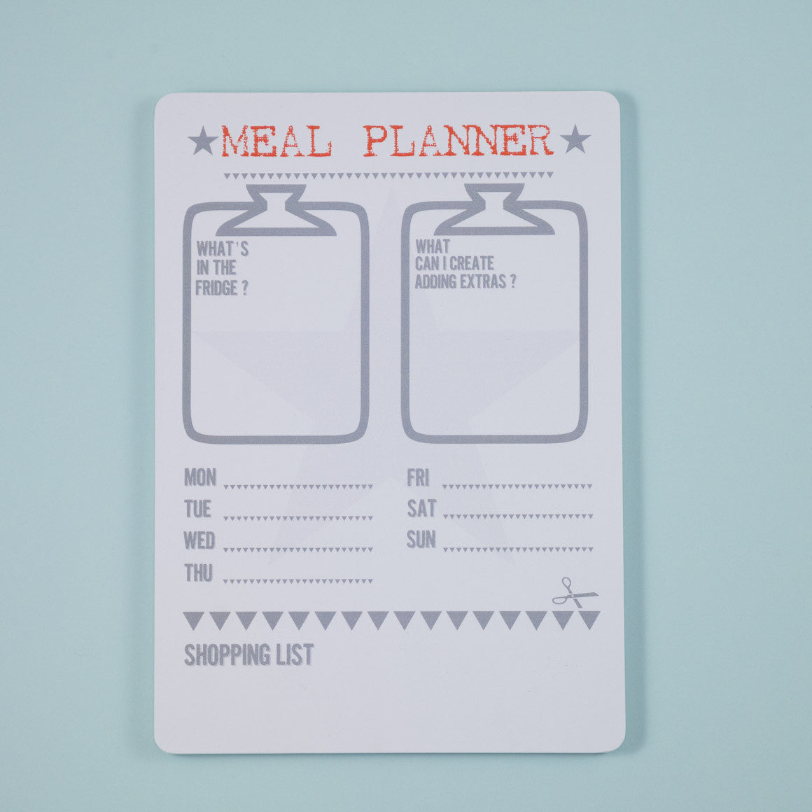 recipe meal planner notepad