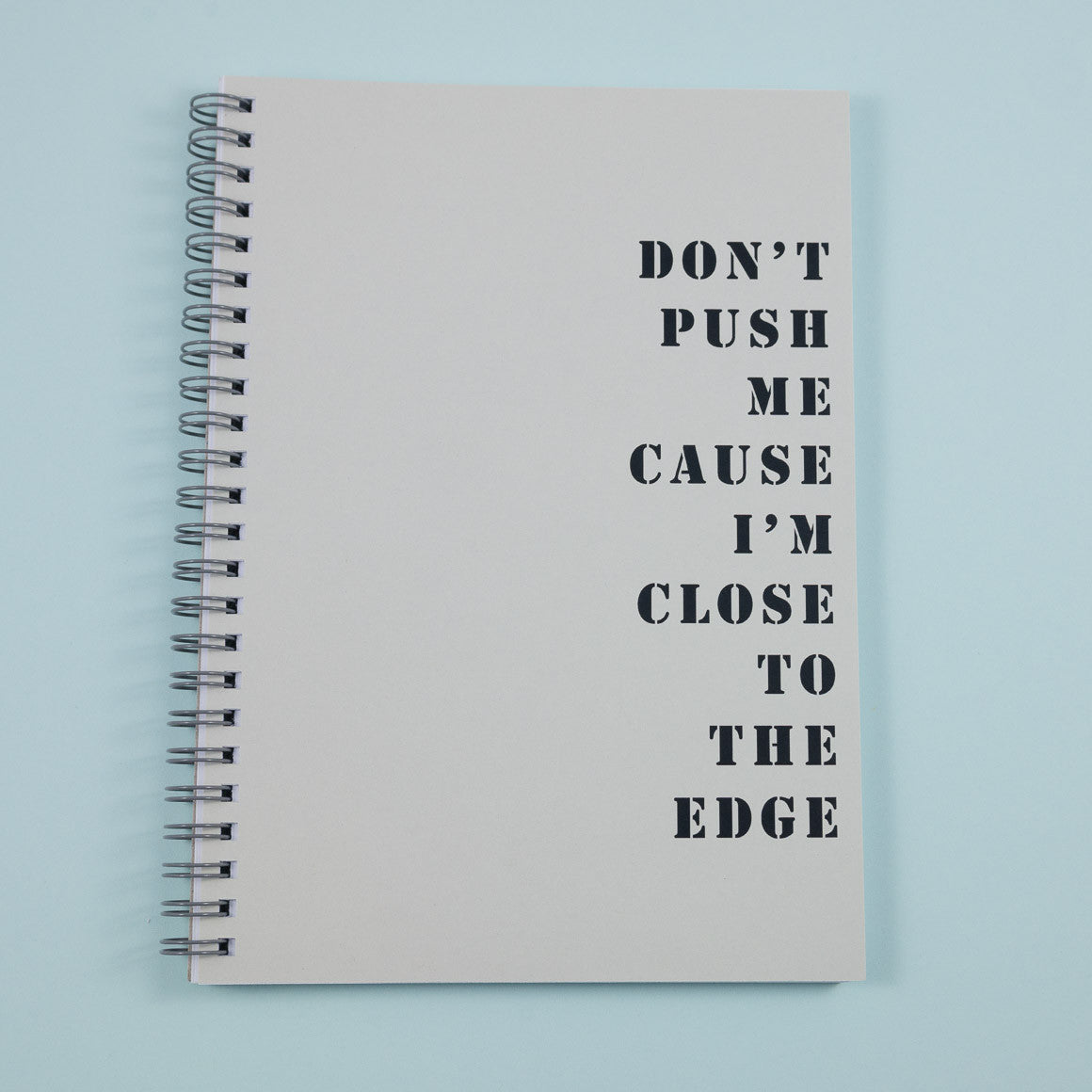 favourite music song lyrics personalised notebook