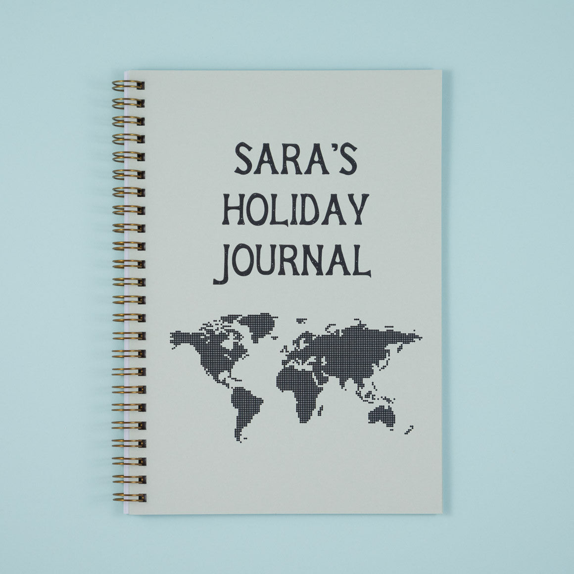 personalised holiday travel journal