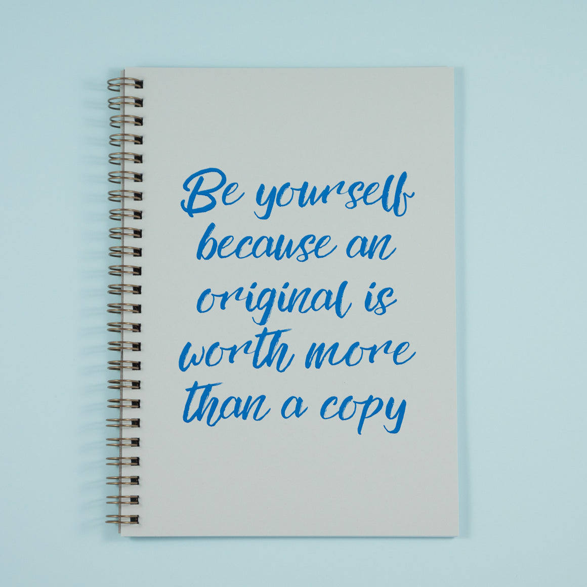 Personalised Notebook Calligraphy Blue Text